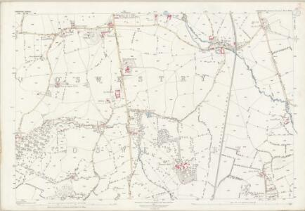 Shropshire XIX.6 (includes: Oswestry Rural; Oswestry Urban) - 25 Inch Map