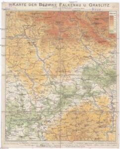 Karte der Bezirke Falkenau u. Graslitz