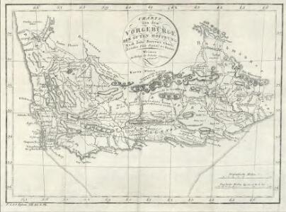 Charte von dem Vorgebürge der guten Hoffnung: Nach John Barrow's Charte (London 1800 Sept. 1) reducirt
