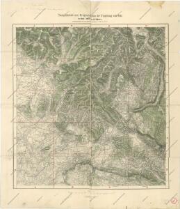 Uebersichtsblatt zum Kriegsspielplan der Umgebung von Gorz