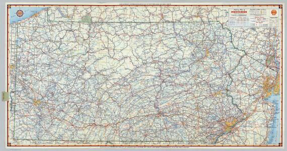 Shell Highway Map of Pennsylvania.