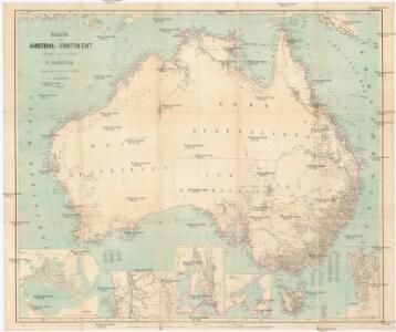 Karte vom Austral-Continent