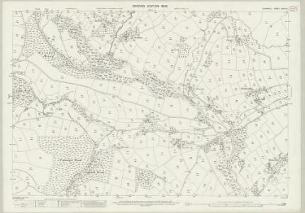 Cornwall XXVIII.8 (includes: Linkinhorne; South Hill; St Ive) - 25 Inch Map
