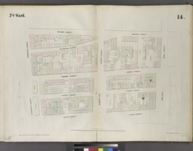 Plate 14: Map bounded by Monroe Street, Pike Street, South Street, Catherine Street.