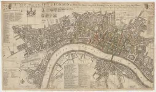 A new mapp of the city of London &c. : with the many additionall buildings and new streets anno 1723 in a playne