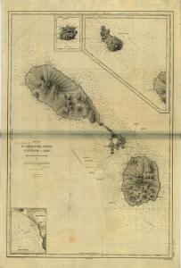 SAINT KITTS, Leeward Islands Island (1875).