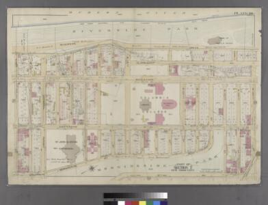 Plate 38: Bounded by (Hudson River) Riverside Park/Drive, W. 125th Street, 9th Avenue, W. 123rd Street, 10th Avenue, Morningside Avenue, Columbus [Avenue] and W. 108th Street.