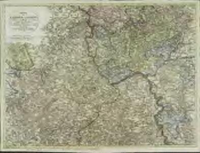 Charte der Lænder am Rhein von Coblenz der Mosel und Lahne südlich bis Mannheim