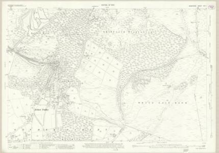 Derbyshire XVII.1 (includes: Baslow and Bubnell; Froggatt; Hathersage; Holmesfield; Nether Padley; Sheffield) - 25 Inch Map