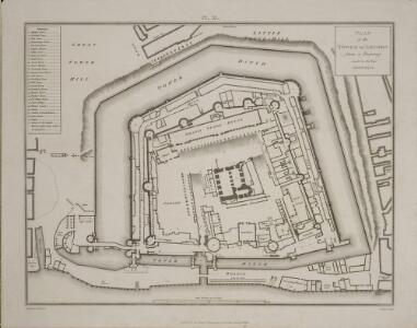 PLAN of the TOWER OF LONDON FROM A Drawing made in the Year MDCCXXVI