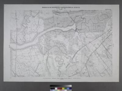 Sheet No. 60. [Includes Bridge Avenue, Fresh Kills Road and Giffords Lane.]; Borough of Richmond, Topographical Survey.
