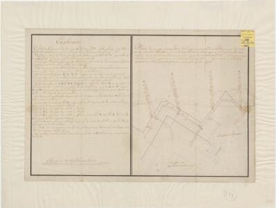 Plan van eenige geprojecteerde gallerijen onder de bedeckte weegen en glacijen voor het bastion d'Estrades en voor de nieuwe lunet ter linker zijde van het voorgemelde bastion leggende [in Maastricht] ... 1770