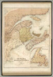 Canada, New Brunswick, Nova Scotia, &c., East Sheet.