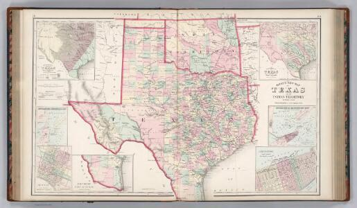 Texas and the Indian Territory (Oklahoma).