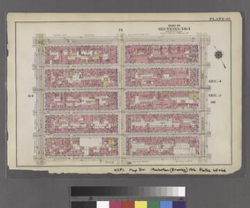 [Plate 65: Bounded by W. 42nd Street, Seventh Avenue, W. 37th Street, and Ninth Avenue.]