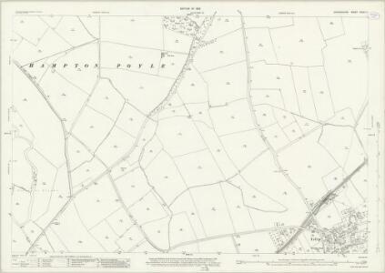Oxfordshire XXVII.11 (includes: Bletchingdon; Hampton Gay and Poyle; Islip; Kidlington) - 25 Inch Map