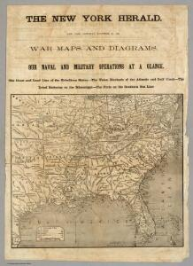 War Maps And Diagrams.  Our Naval And Military Operations At A Glance.
