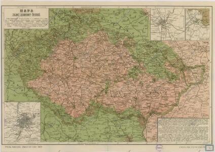 Mapa zemí koruny České