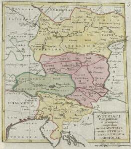 Circvli Avstriaci Pars posterior et principalis complectens Archid. Austriae Ducatus Styriae Carinthiae et Carniolae