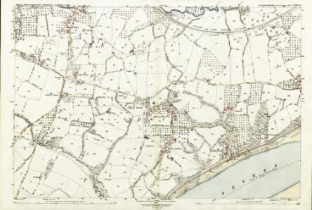 Gloucestershire XXXIX.16 (includes: Awre; Hinton; Lydney; West Dean) - 25 Inch Map