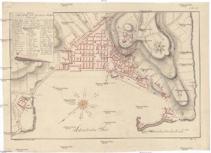 Plan der Stadt und des freyen Seehafens Triest