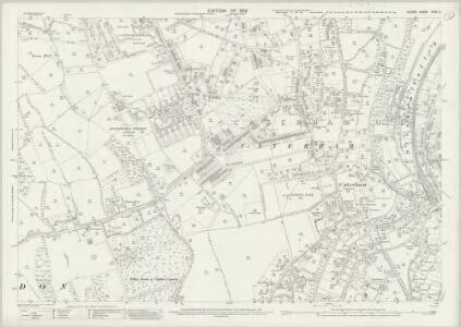 Surrey XXVII.2 (includes: Caterham; Chaldon) - 25 Inch Map