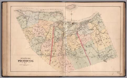Outline Map of Pictou County, Nova Scotia, 1879.