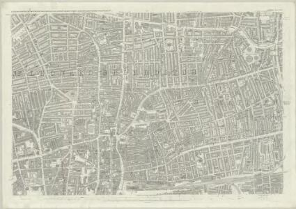 London (First Editions c1850s) XXVII (includes: Bethnal Green; Shoreditch; Stepney) - 25 Inch Map