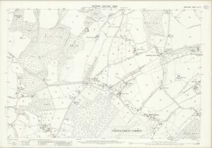 Berkshire XLII.5 (includes: Inkpen; Kintbury; West Woodhay) - 25 Inch Map