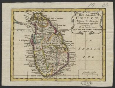 Het eiland Ceilon : volgens de nieuwste waarneminge opgesteld