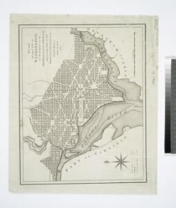 Plan of the city of Washington : now building for the metropolis of America, and established as the permanent residence of Congress after the year 1800 / B. Baker sculp, Islington.