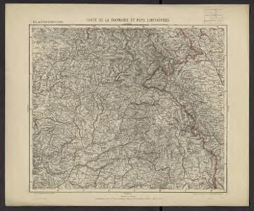 Carte de la Roumanie et pays limitrophes. Klausenbourg
