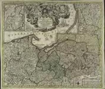 Borussiæ regnum sub fortissimo tutamine et justissimo regimine serenissimi ac potentissimi principis Friderici Wilhelmi lætissimis incrementis efflorescens cum adjacentib. regionibus mappa geographica