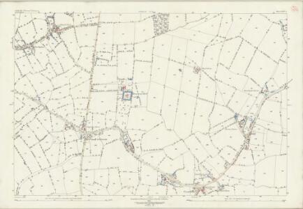 Suffolk LXIV.4 (includes: Brettenham; Buxhall; Hitcham) - 25 Inch Map