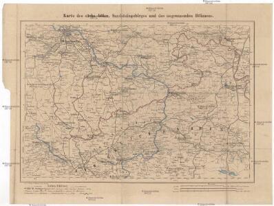 Karte des sächs.-böhm. Sandsteingebirges und des angrenzenden Böhmens