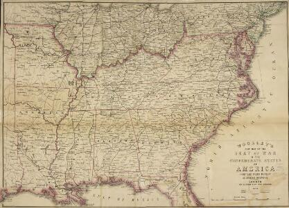 Woolley's new Map of the Seat of War in the Confederate States of America.