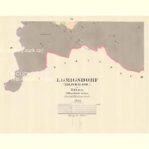 Lomigsdorf (Dlomilow) - m0455-1-005 - Kaiserpflichtexemplar der Landkarten des stabilen Katasters