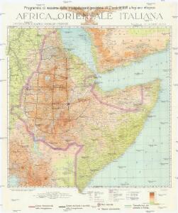 Programma di massima della triangolazione geodetica di I° ordine dell' altopiano etiopico