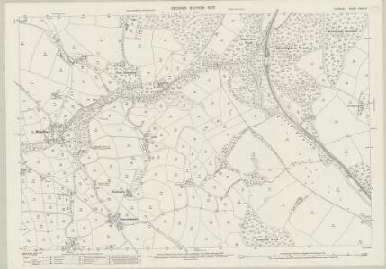 Cornwall XXXIV.15 (includes: Lanhydrock; Lanlivery; Lostwithiel; St Winnow) - 25 Inch Map