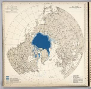 Ice Chart, Northern Hemisphere, August.