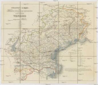Strassen Karte des Lombardisch-Venezianischen Koenigreiches