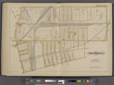 Buffalo, Double Page Plate No. 33 [Map bounded by Clinton St., Bailey Ave., Dole St., Elk St., Smith St., Fillmore Ave.]
