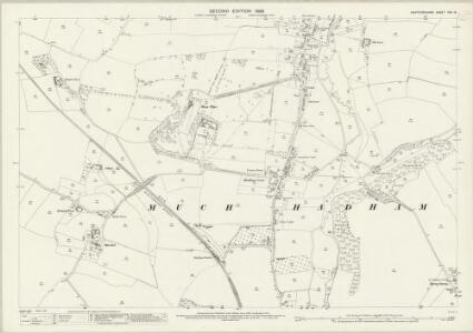 Hertfordshire XXII.15 (includes: Much Hadham) - 25 Inch Map