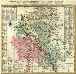 Accurate Geographische delineation derer Chursächischen Ammter Annaburg, Pretzsch, Torgau, Schweinitz, und Mühlberg