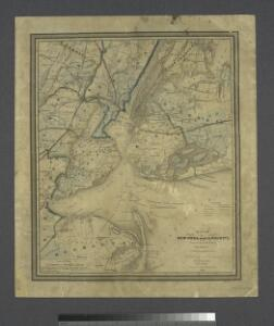 Map of New-York and its vicinity /drawn by D.H. Burr, geographer ; engraved by S. Stiles, Sherman & Smith.