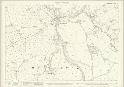 Pembrokeshire II.14 (includes: Monington; Moylgrove; St Dogmaels) - 25 Inch Map