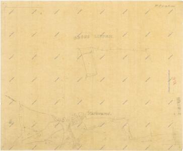 Kopie katastrální mapy obce Markvarec z roku 1841, list I 1