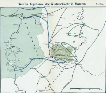 Nr. 21a. Weitere Ergebnisse der Winterschlacht in Masuren