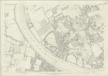 London (First Editions c1850s) LXIII (includes: Barnes; Fulham; Wandsworth Borough) - 25 Inch Map