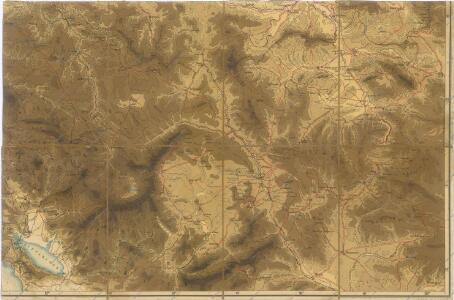 Hypsometrische uibersichtskarte von Bosnien der Herzegovina von Serbien und Montenegro